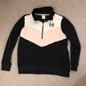 VS Pink half zip pullover sweater Small